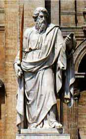 Statue of St.  Paul, in St. Peter's Square