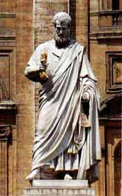 Statue of St.  Peter, in St. Peter's Square