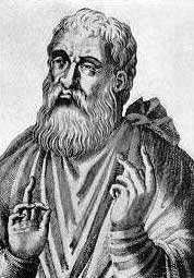Justin Martyr (picture courtesy Special Collections Library, Univ. of Michigan)